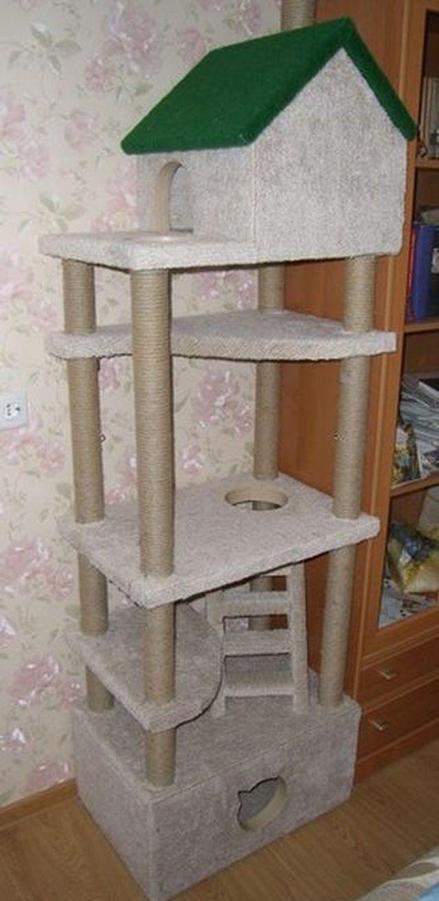Домики для кошек своими руками в домашних условиях фото