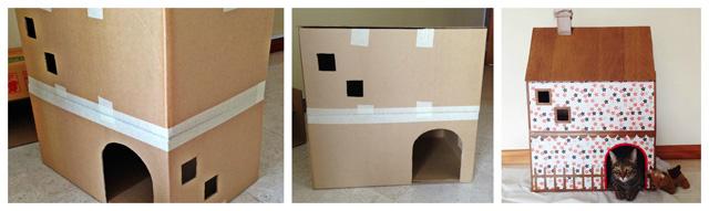 Как сделать кошачий дом из коробки