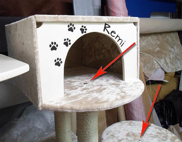 Дом для кота из фанеры своими руками 57