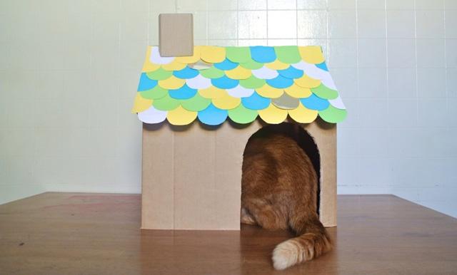 Домик для кошки своими руками / 38 фото » Vintika Net