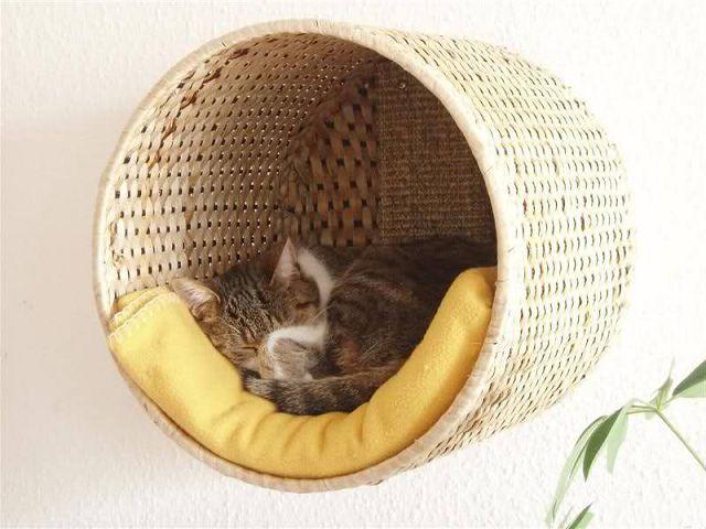 Как сшить корзину для кошки