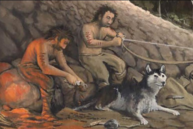 Собака и древний человек
